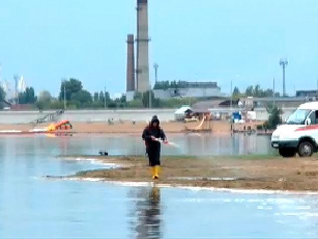 Волга под Сызранью загрязнена нефтепродуктами