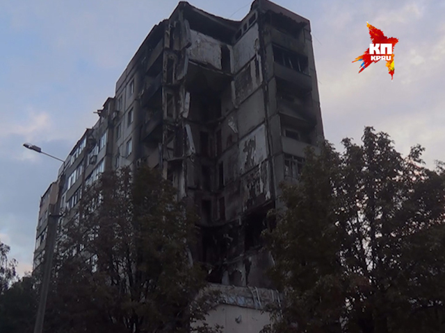После артобстрелов в городе Ясиноватая остались одни руины