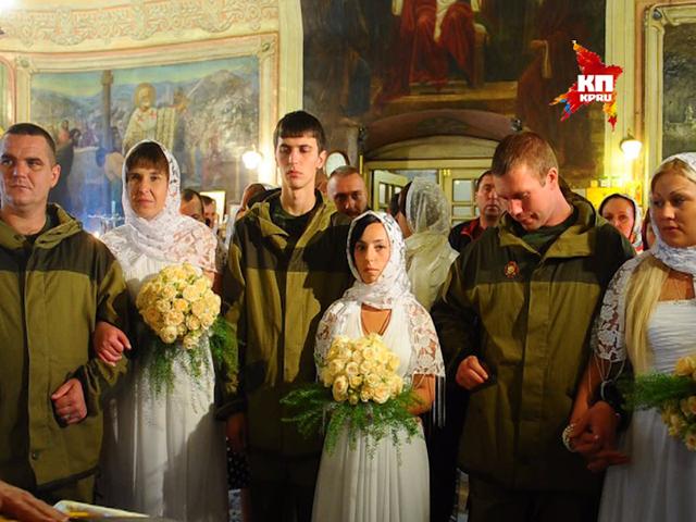 Ополченцы Новороссии сыграли свадьбу в Москве