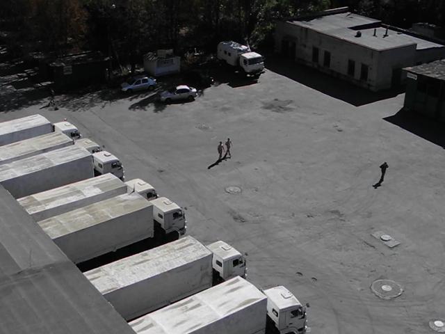 Гуманитарный конвой из России разгрузился в Донецке