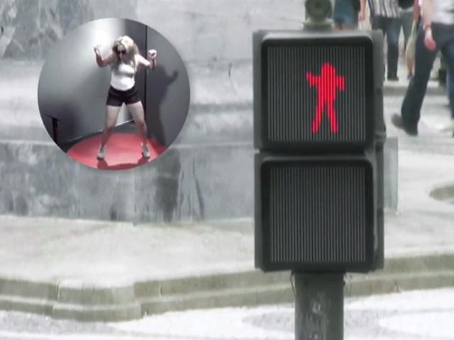 """Танцующий светофор"" решил проблемы пешеходов в Лиссабоне"