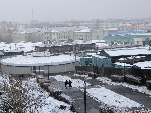 На Покров день снег выпал в Иркутске
