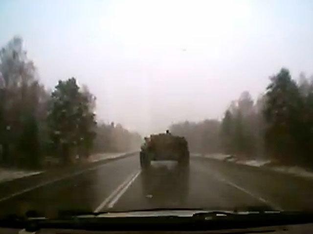 ДТП с БТР на алтайской трассе