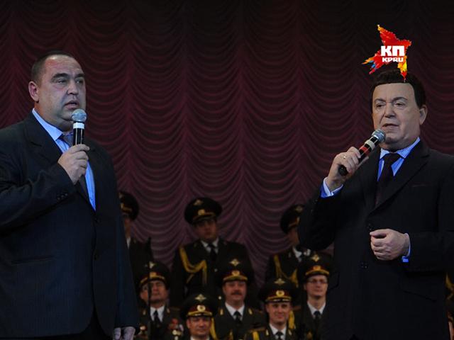 Иосиф Кобзон побывал на блокпосту ополченцев и спел с главой ЛНР Игорем Плотницким