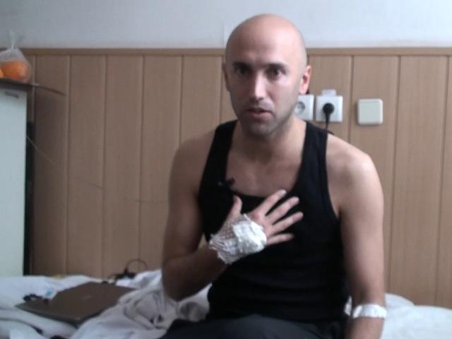 """Корреспонденты """"КП"""" навестили раненого британского журналиста Грэма Филлипса и взяли у него интервью"""