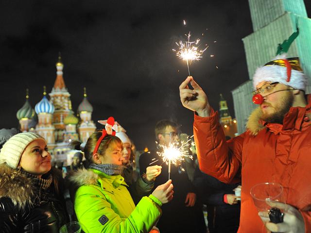 Москвичи встретили Старый Новый год на Красной площади