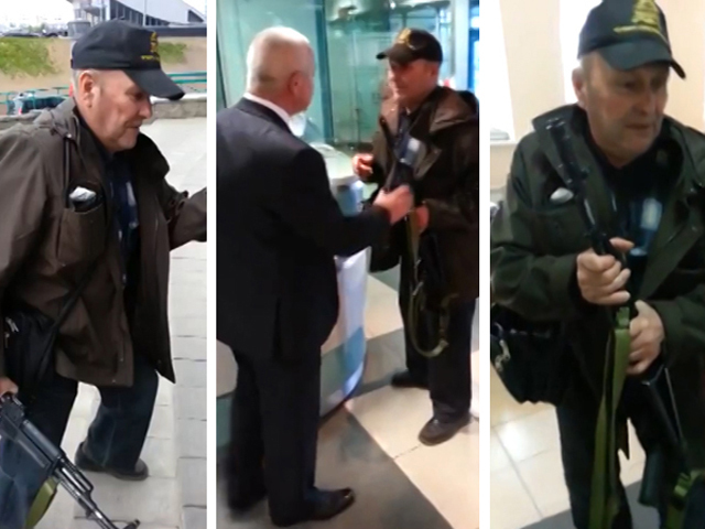 Пенсионер пришел с автоматом в банк