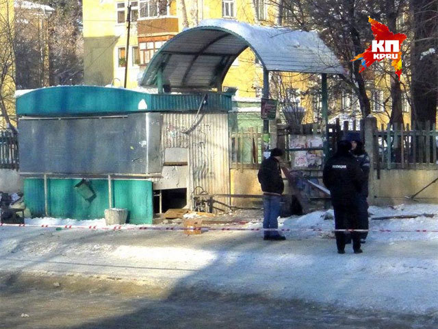 Видео с места взрыва на автобусной остановке в Ангарске