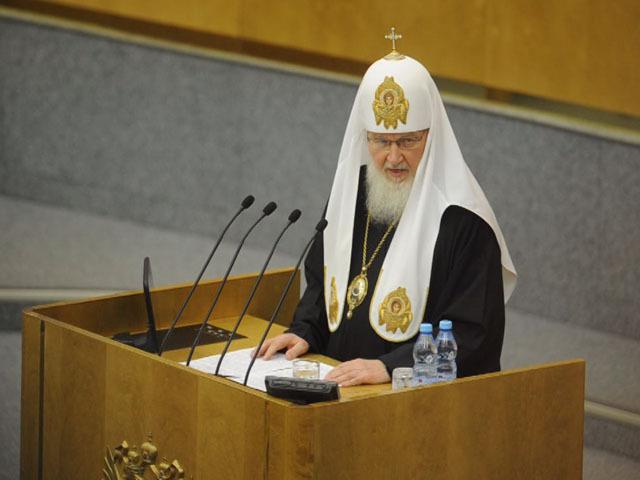 Патриарх Кирилл впервые в истории выступил с думской трибуны