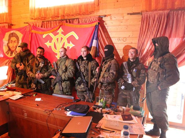На южном фронте, под Мариуполем воюет интернациональный отряд Unite Continentale