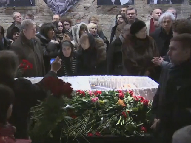 В Москве проходит церемония прощания с Борисом Немцовым