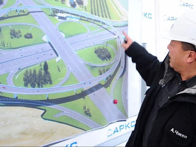 Сергей Собянин побывал на месте  строительства развязки МКАДа с Каширкой