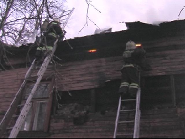 Поджог жилого дома на Большой Печерской в Нижнем Новгороде