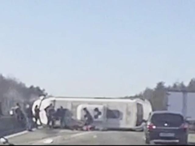 Смертельная авария микроавтобуса в Дзержинске 16 марта