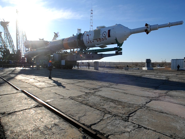 """Подготовка к запуску космического корабля """"Союз ТМА-16М"""""""
