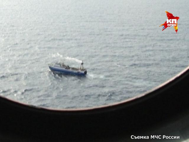 Поисковые работы с вертолета в акватории Охотского моря
