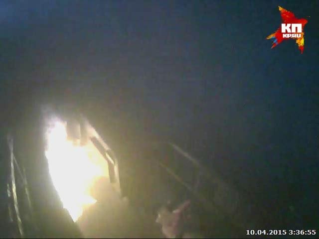В Кемерове сгорел магазин пива