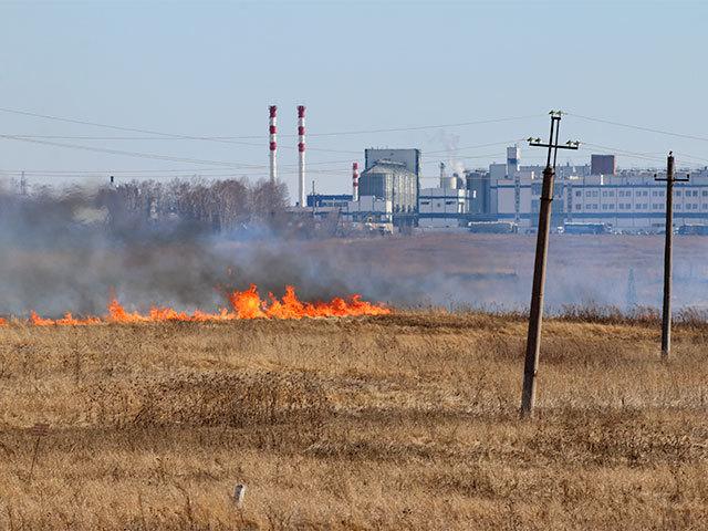 В Самаре - пожары от сухой травы