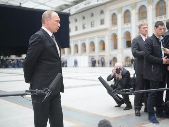 Пресс-подход Владимира Путина к журналистам после Прямой линии