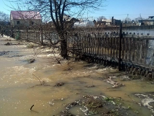 Паводок в Заринске: поселок Старый Балиндер 27 апреля 2015 года