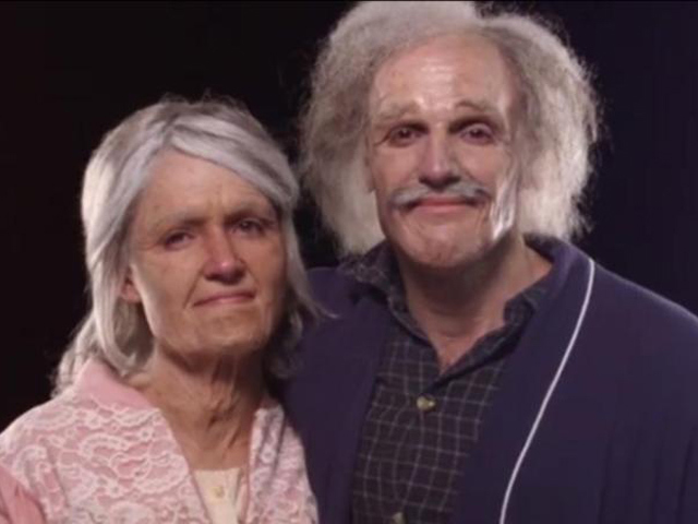 Жениху и невесте показали, как они будут выглядеть в 50, 70 и 90 лет
