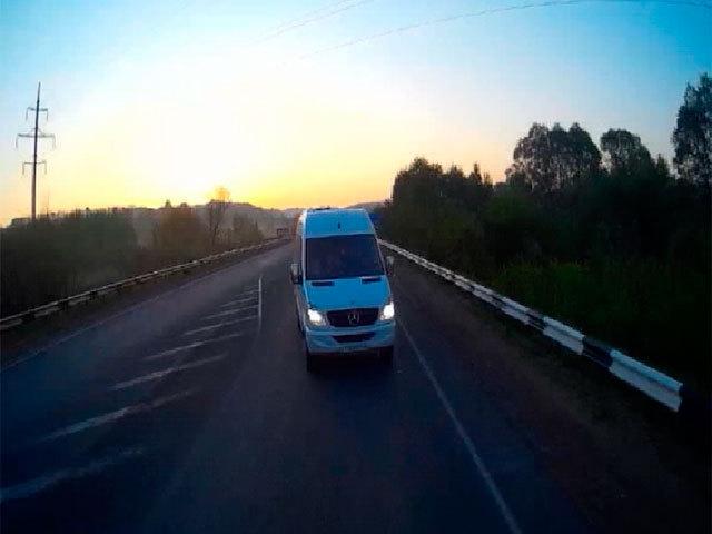 Момент столкновения автобуса и фуры под Кстовом снял видеорегистратор