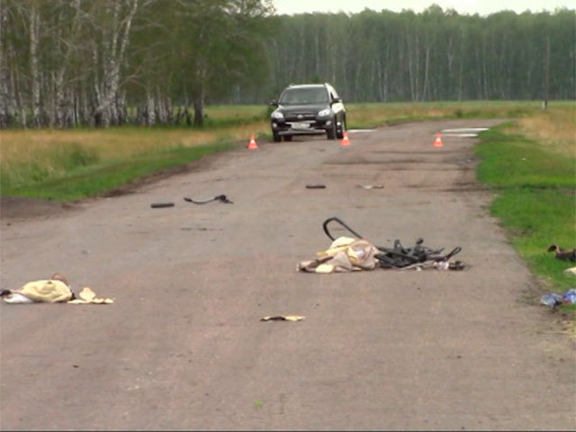 В Омской области пьяный водитель сбил насмерть женщину с ребенком