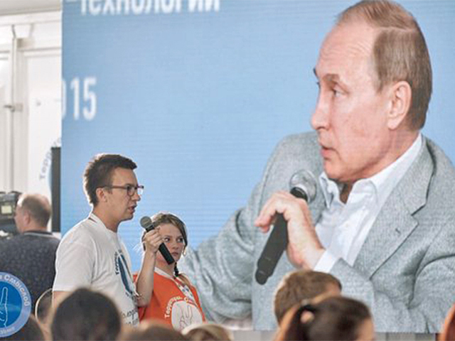 Самарец Алексей Чуркин представил президенту Путину свое изобретение - бесконечную флешку