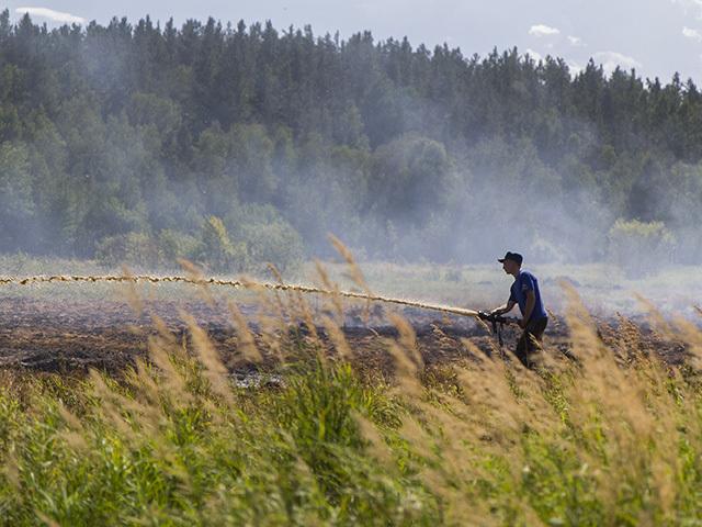 Горящие торфяники в Иркутске