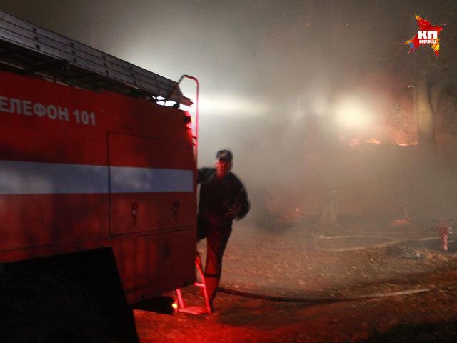 Крупный пожар произошел ночью 29 сентября в Нижнем Новгороде
