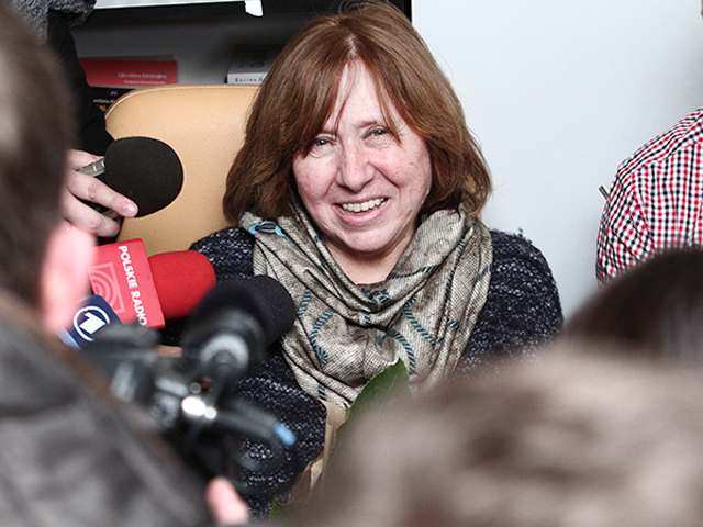 Белорусское телевидение о вручении Нобелевской премии Светлане Алексиевич