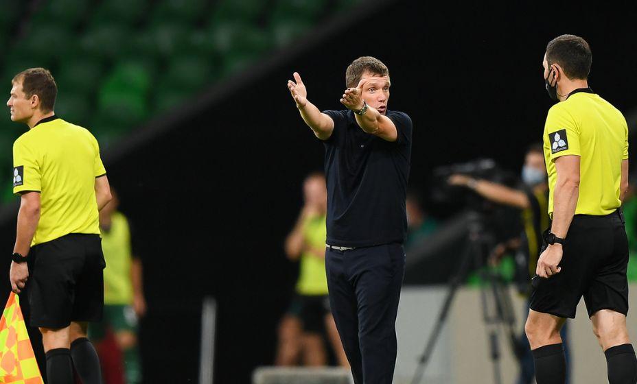 «Краснодара» остался без Виктора Гончаренко, тренер был удален в матче с «Ахматом».  Фото: РПЛ