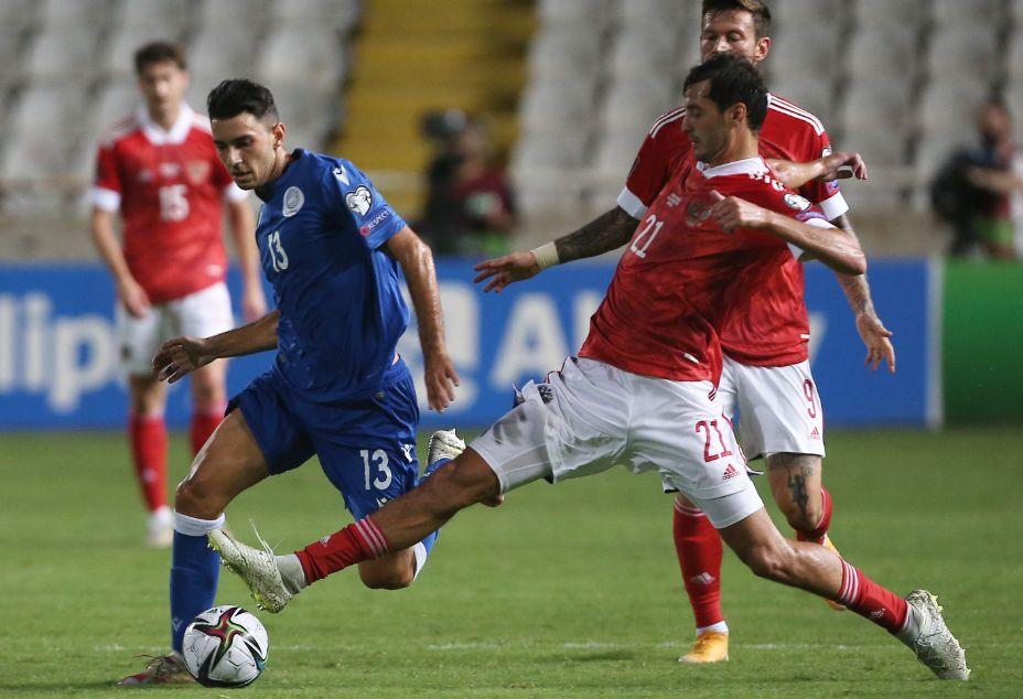 Александр Ерохин отметился голом в ворота киприотов. Фото: Reuters