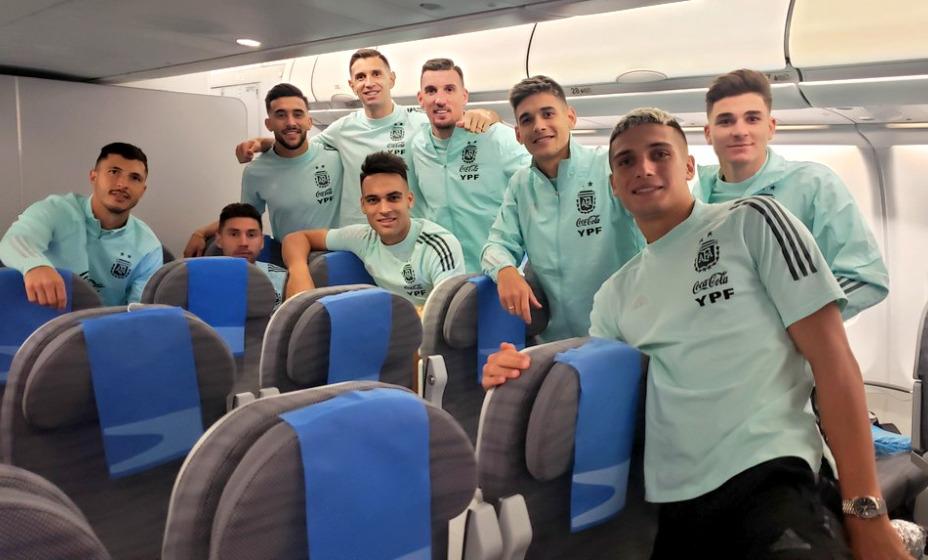 Сборная Аргентины отправляется на родину. Фото: Twitter сборной